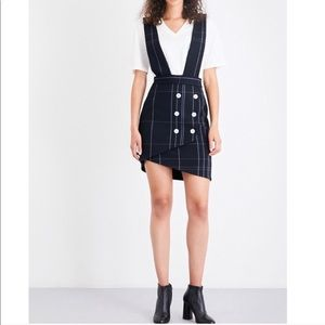 "Maje ""Jola"" gabardine pinafore Dress FR 38 US 6"
